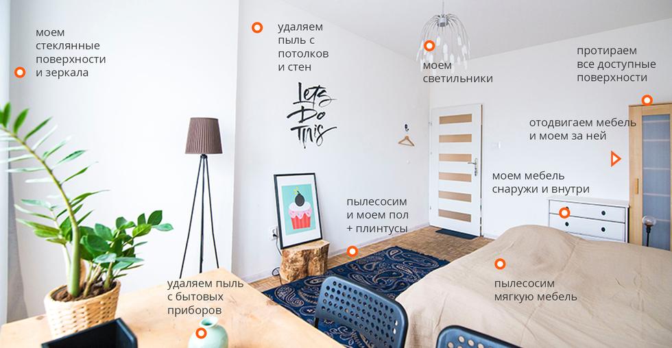 Уборка квартир в Красногорске - общие работы